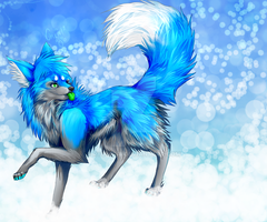 Art Trade with Kiba-Free-Wolf by Ryuu-sai