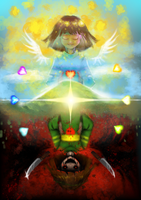 Pacifist-Genocide, Frisk and Chara by NetrialisPL