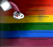 LGBT Bisexual Poem and Picture by queencolondarkwing