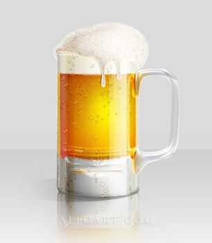 Glass of beer, Png icon, tutor by AlexandraF