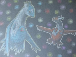 Latios and Latias by Hidavalentinwar