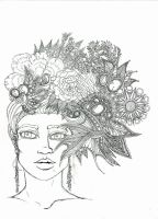Flowers In Her Hair by FrenchHumorist