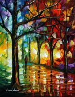 The soul of night by L.Afremov by Leonidafremov