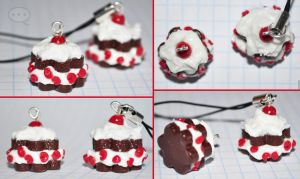 clay cherry dark cake by cihutka123