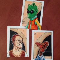 Star Wars sketch cards by johnnyism