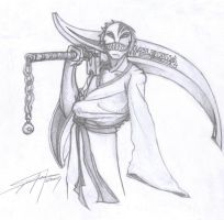 bleach as a hollow shinigami by calaveraspain