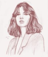 Felicity Jones portrait by prinsepolo
