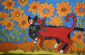 sunflowercats by ingeline-art