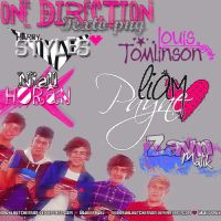 One Direction Texto png by iKidrauhlHutcherson