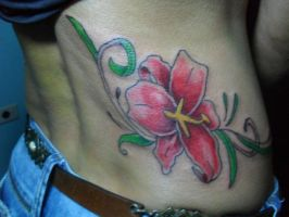 Tattoo Flower Red by xandaumtattoo
