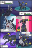 Mightyena vs Umbreon redux by RacieB