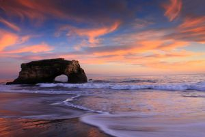 Natural Bridges sunset by hemasu