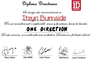 Diploma DIRECTIONER by ItzyriB