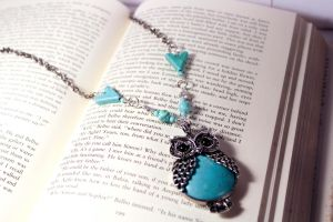 Turquoise Owl by Squeakboutique