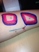 Arm Art: Eyes on my arm? by ZANe-The-Damned