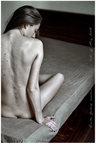 """E"" nude on the bed by ostanine"