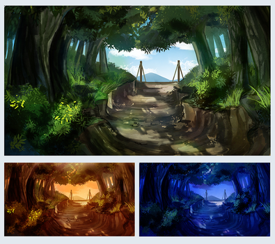 Forest pathway by shilkefair