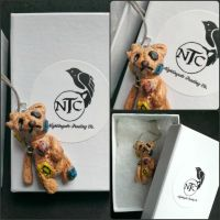 Patch the Teddy Bear Pendant by NightingaleTradingCo