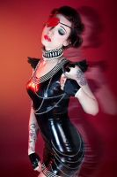 Queen of Hearts in Latex by CradleOfDoll