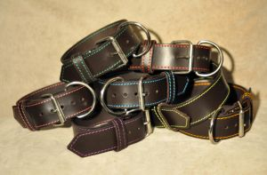some dog collars by leatherforfun