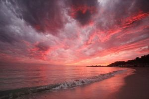 Pink Malibu Sunset by CgProPhoto