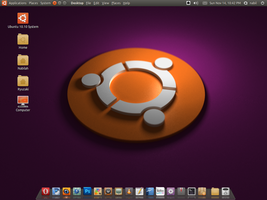 My Ubuntu 10.10 desktop by ghogaru