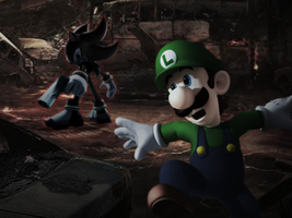 Luigi vs. Shadow by JumpmanDA