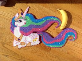 {Perler} Princess Celestia by OddishCrafts