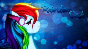 Rainbows's Headphones Wallpaper by BlueDragonHans