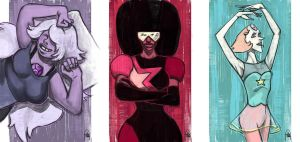 Daily Sketches Crystal Gems by fedde