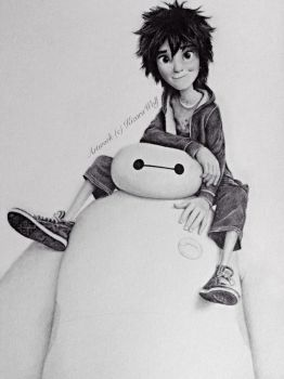 .: Hiro and Baymax :. by KizaraWolf