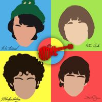 The [Minimalist] Monkees by DeverexDrawer