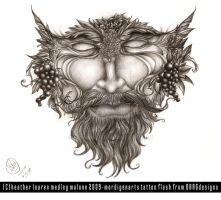 Green Man Tattoo Concept by mordigen
