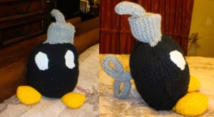 Bomb-omb plushie by blissfulldarkness