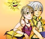 Collab - Maka and Soul by irenukia