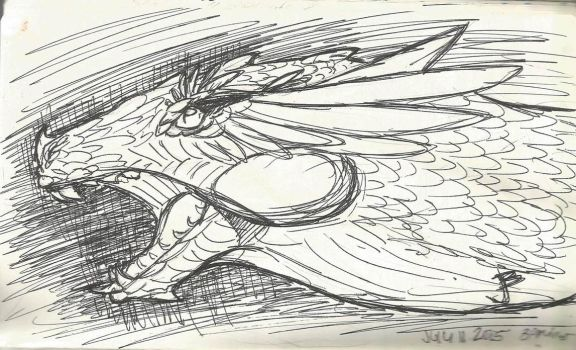 Ballpoint Dragon by Skybird16