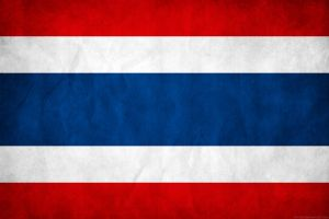 Thailand Grunge Flag by think0