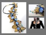Branch necklace.Pastel colors by julishland
