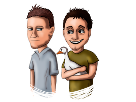 Joey and Chandler by Speck--Of--Dust