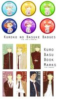 Kuroko no Basuke Badge and BM samples by vrammu