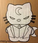 Moon Knight kitty by artist Tom kelly by TomKellyART