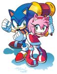 Sonic and Amy (Coloring Commission) by herms85