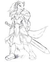 Armored Wolf by Suirano