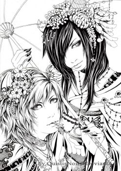 Asagi and Ruiza by QuistisNoir