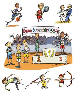 Jeux Olympiques - Olympic games by LaureCacouault