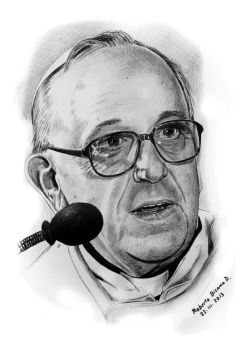 papa Francisco l by RobertoBizama