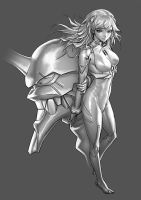 N.G.E. - Grayscale Rendering (Part 1) by chesterocampo