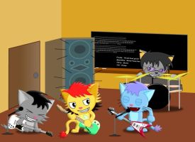 Band of Felines by GoneIn10Seconds