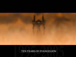Evangelion 10th Anniversary WP by mediocrepanda