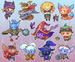 Yordle Sticker Page! by RinTheYordle